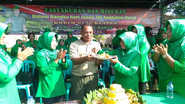 Lihat !!! Begini Cara Kodim Klaten Tasyakuran Hari Juang TNI AD