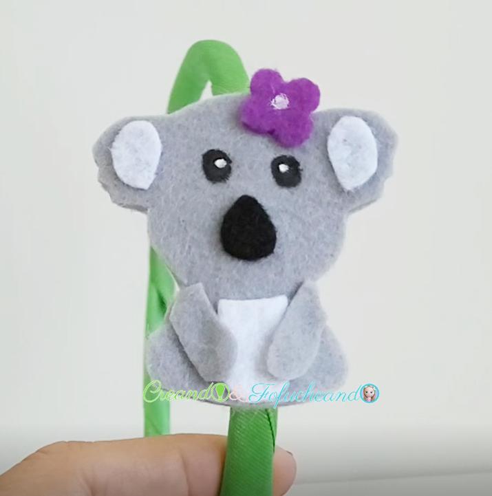 Diadema-de-koala-accesorios-para-niñas-Koalas-de-fieltro-creandoyfofucheando