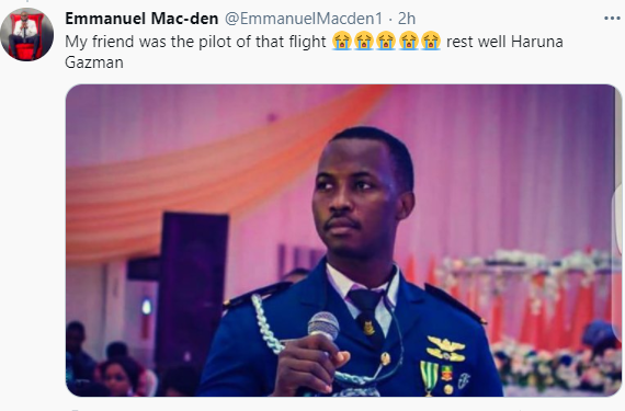 Picture of the pilot who flew the ill-fated Nigerian Air Force aircraft that crashed in Abuja