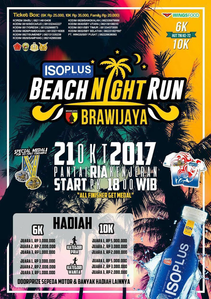 Brawijaya - Beach Night Run • 2017