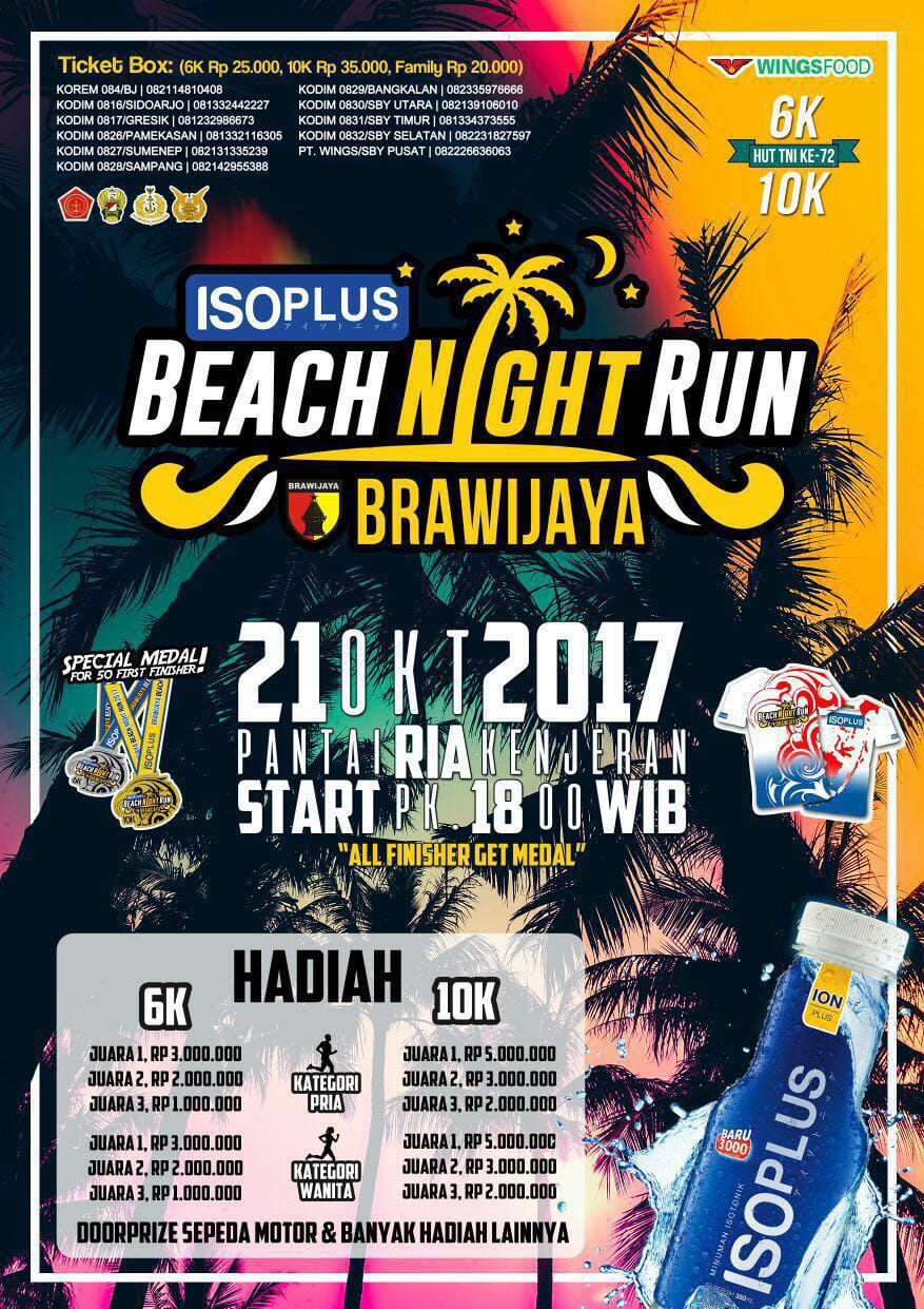 Brawijaya - Beach Night Run • 2017