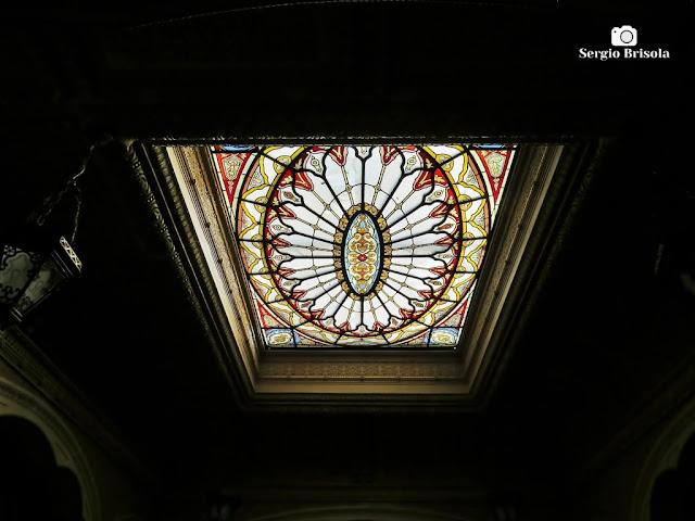 Palacete Rosa - Vitral da claraboia - Casa Conrado