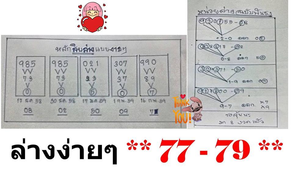 Thailand HOT Shot Down Sets & 3up Pairs 16-02-2016 ~ THAI LOTTO 001 ...