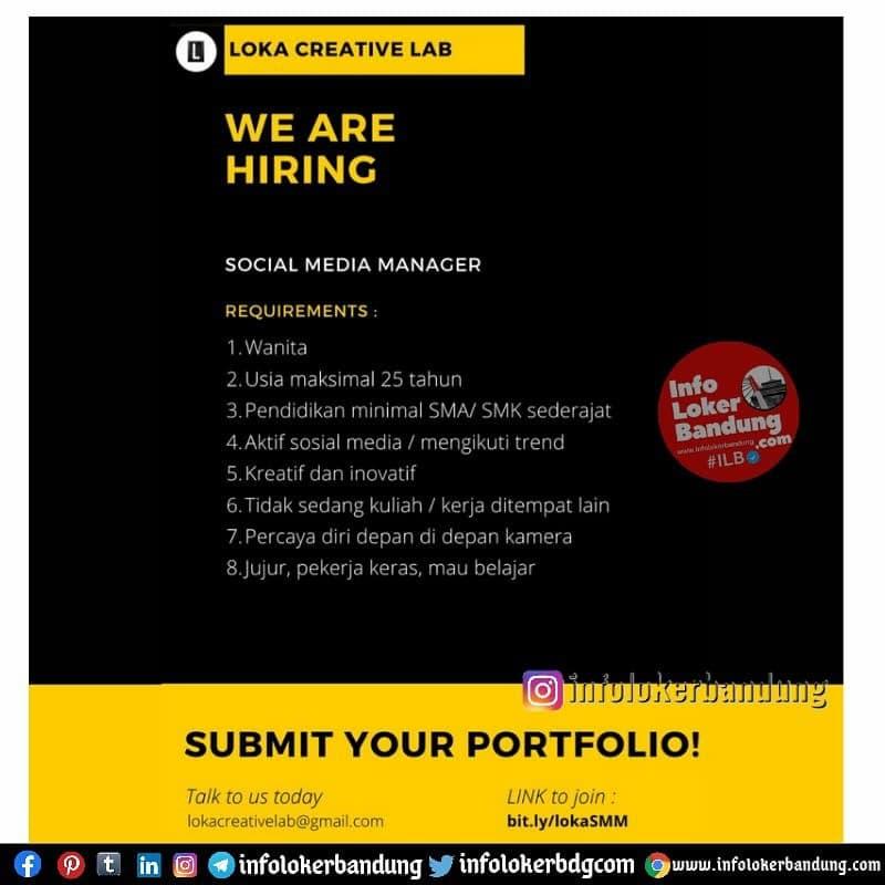 Lowongan Kerja Loka Creative Lab Bandung Mei 2021