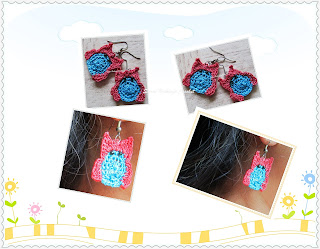 free crochet ear ring pattern, free crochet owl ear ring pattern