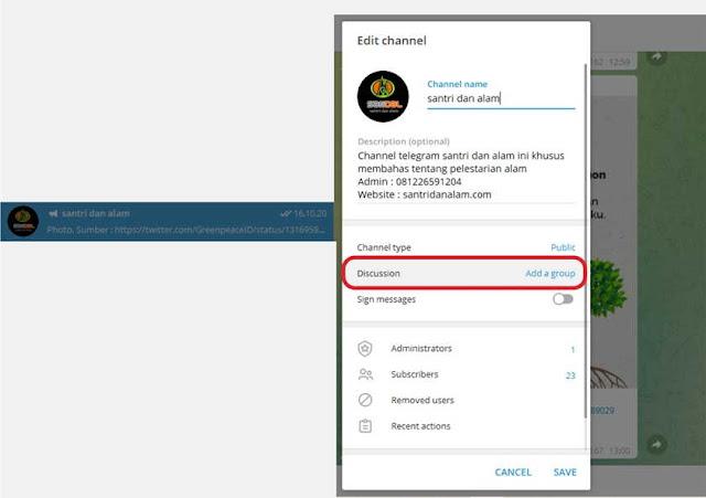 Cara Membuat Kolom Komentar Di Ch Telegram