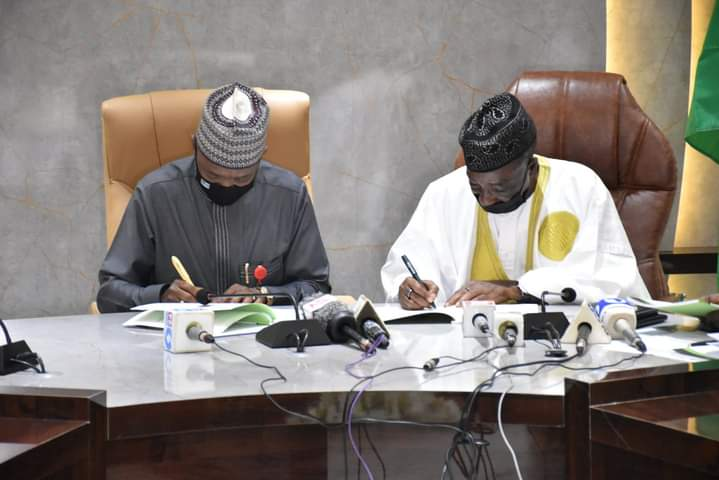 HANDING OVER / TAKING OVER: Mohammad Mahmood Abubakar Assumes Duties at FMARD- Promises to prioritize the implementation of FG's national livestock policy.
