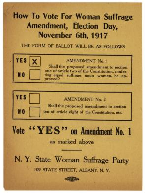 New York State Woman Suffrage ad