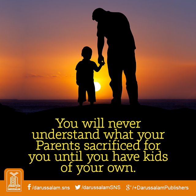 You will never understand what your Parents sacrificed for you until you have kids of your own. Parents Status Quotes Images Download for WhatsApp