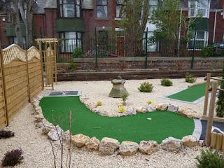 Crazy Golf course at St Mark's Community Association in Sunderland