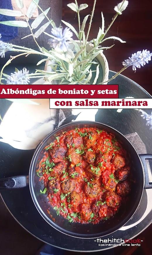 Albóndigas de boniato y setas con salsa Marinara (Receta de temporada)