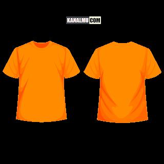 mentahan kaos polos orange kunyit lengan pendek PNG - kanalmu
