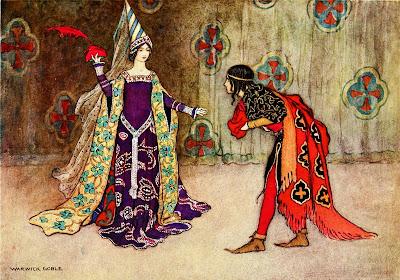 Ilustración medievalista de Warwick Goble