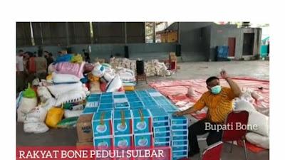 Siang Ini Bupati Bone Antar Langsung Bantuan ke Sulbar