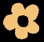 小さな花のイラスト「パステル・黄」