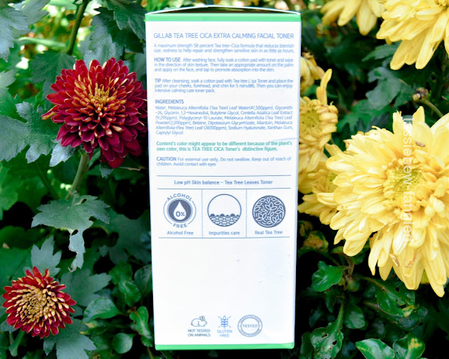 [Review] Gilla8 Tea Tree Cica Extra Calming Facial Toner
