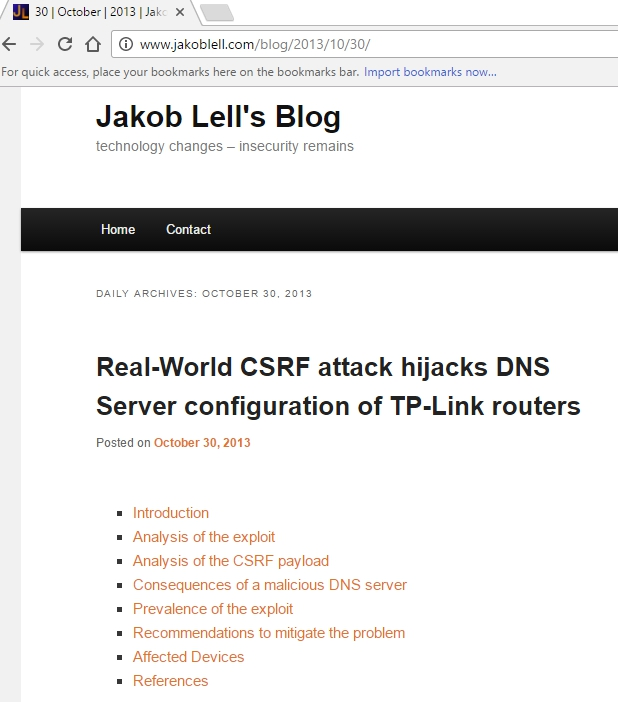 Whitelist: 4 - Detecting alterations at a patched TP-LINK router