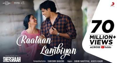 Raatan Lambiyan Lyrics in Hindi - Shershaah, Shershaah, Jubin Nautiyal Song, Asees Kaur song, Hindi Songs Lyrics