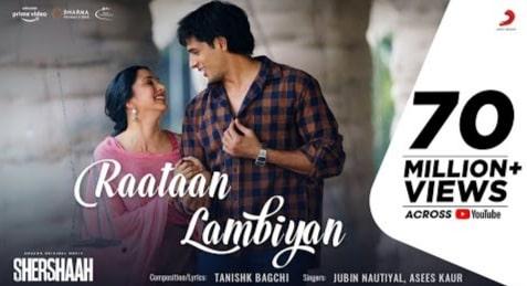 रातां लम्बियां Raatan Lambiyan Lyrics in Hindi - Jubin Nautiyal
