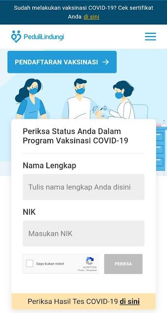 Cara Download Sertifikat Vaksin di aplikasi pedulilindungi/pedulilindungi.id