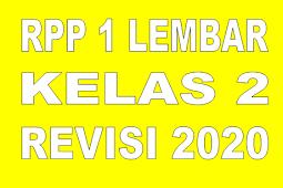 RPP 1 LEMBAR KELAS 2 TEMA 6 REVISI 2020 - RPP LURING