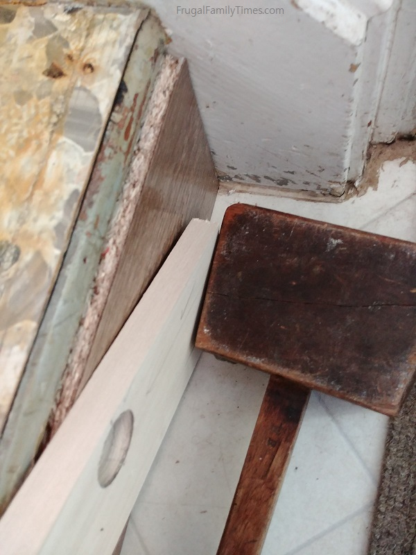 installing wood stair riser