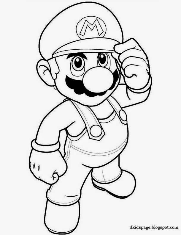 Kids Page Super Mario Bros Coloring Page Download Free