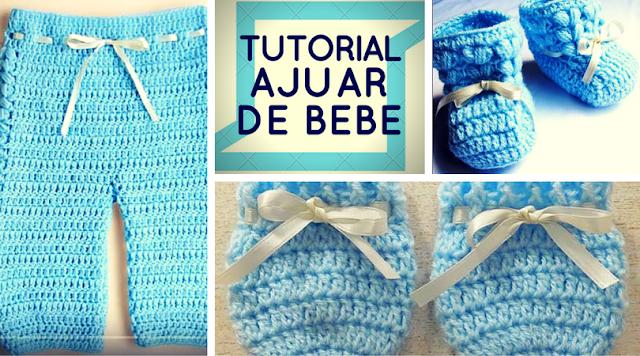 Ajuar Bebé Varón a Crochet o Ganchillo