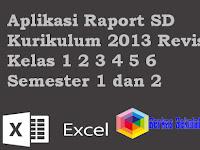 Aplikasi Raport SD Kurikulum 2013 Revisi Kelas 1 2 3 4 5 6 Semester 1 dan 2