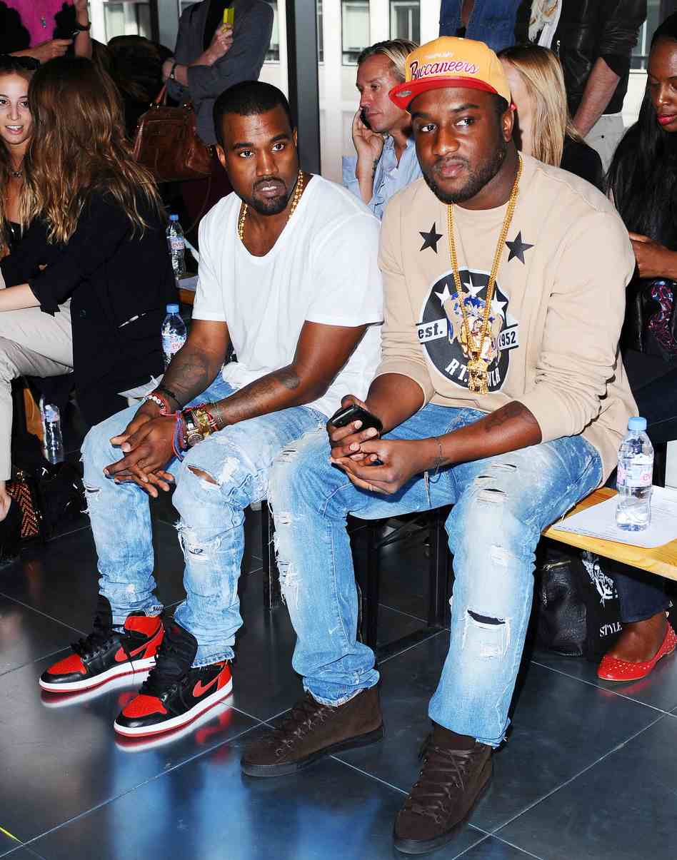 Kanye West and Virgil during London Fashion Week  70fe0028f23