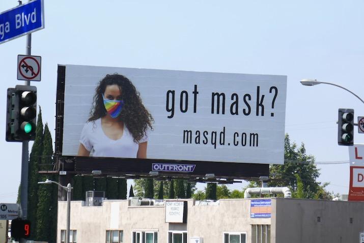 Got mask Masqd website billboard