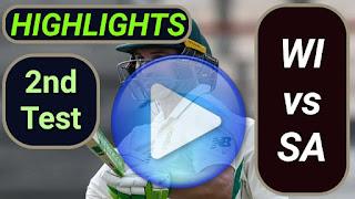 WI vs SA 2nd Test 2021