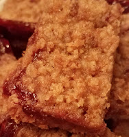 Whole Wheat Jam Crumble Bars, I love the crumbly top!
