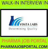 Vimta Labs Urgent Requirement for Experienced Microbiologist with Pharma Background