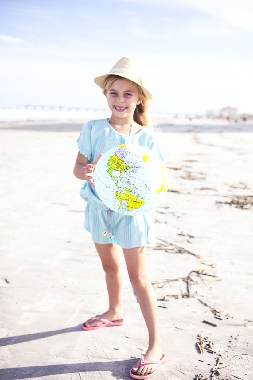 Little girl wearing Boho dress by Sunuva