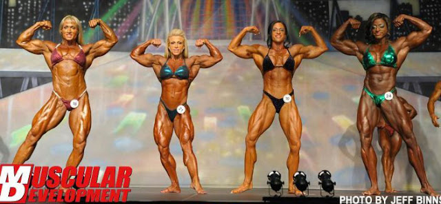 Europa female bodybuilding comparision