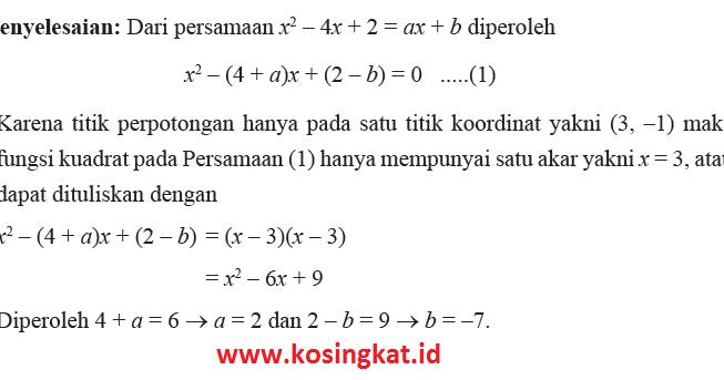 Kunci Jawaban Matematika Kelas 9 Halaman 115 116 Latihan 2 4 Kosingkat
