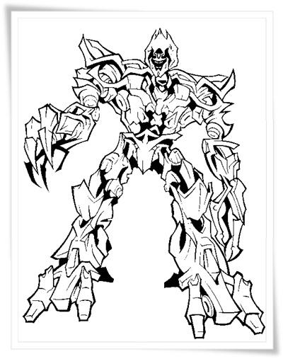 Ausmalbilder zum Ausdrucken: Transformers Ausmalbilder
