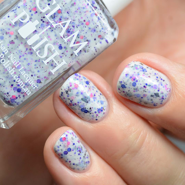 white crelly glitter nail polish