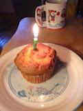 7th anniversary brain birthday muffin