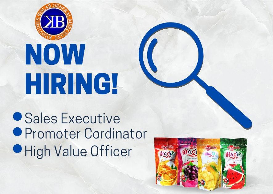 Kudyunus Bislar General Merchant Is Hiring High Value Officers And Sales Executive