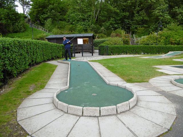 Minigolf course at Lister Gardens in Lyme Regis, Dorset