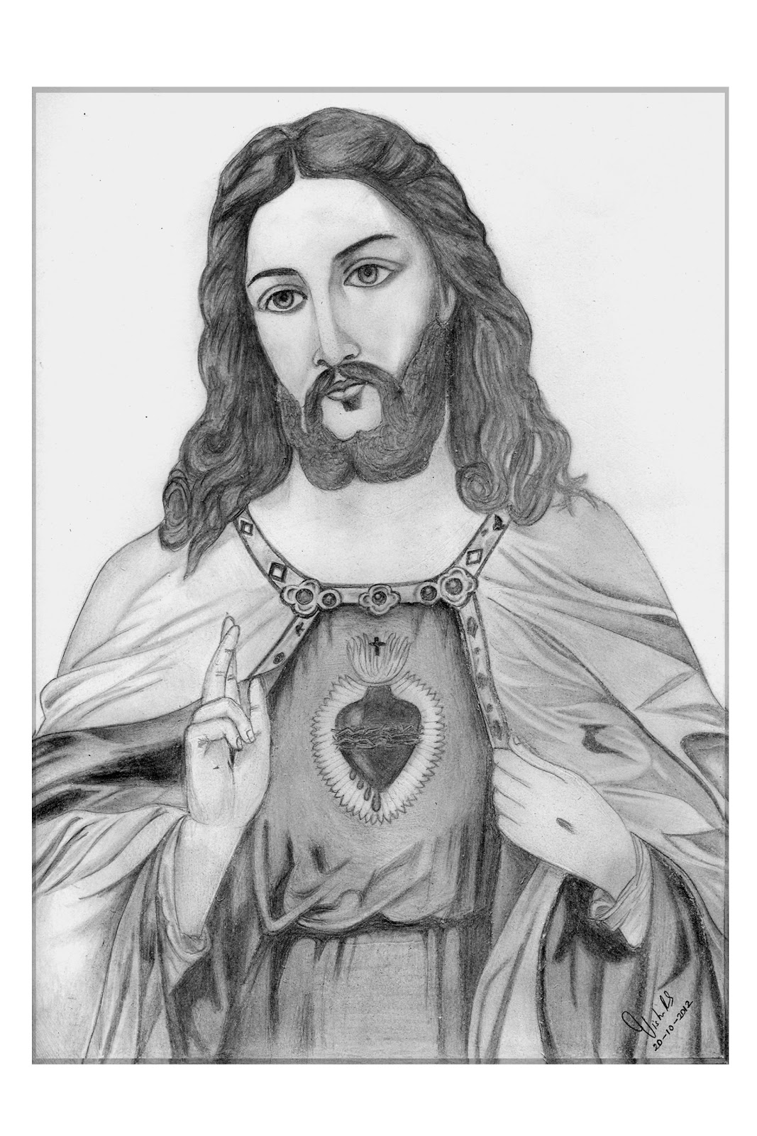 Pencil Drawings [ Vishnu R S ]: Jesus Christ