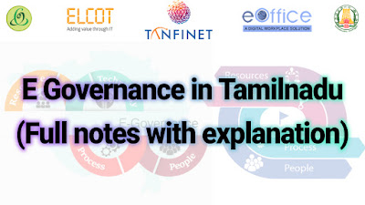 E GOVERNANCE IN TAMILNADU FULL NOTES WITH EXPLANATION | TNPSC TAMILNADU ADMINISTRATION | UNIT 9