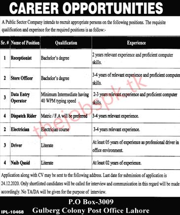 Public Sector Company Jobs 2020