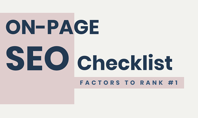 The On-Page SEO