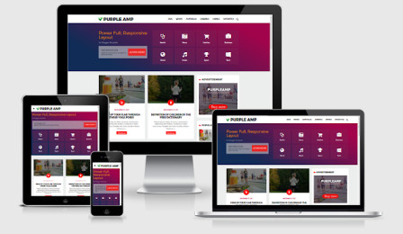 Purpleamp AMP HTML Responsive Template for Blogger