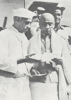Sardar patel and jawaharlal nehru