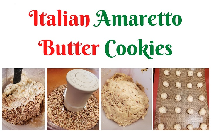 this is the directions on how to make Amaretto Butter Cookies or Snowball Cookies