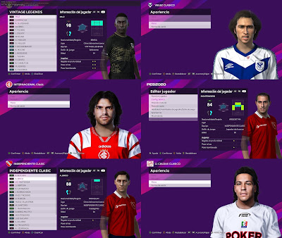 PES 2021 Classic Facepack by 0coolmodfaces